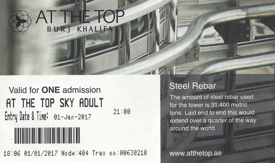 Ticket At the Top Sky Burj Khalifa