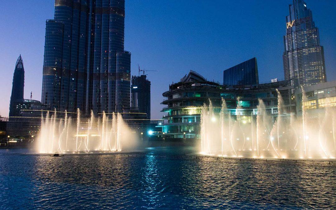 Dubai Fountain – Wasserspiele