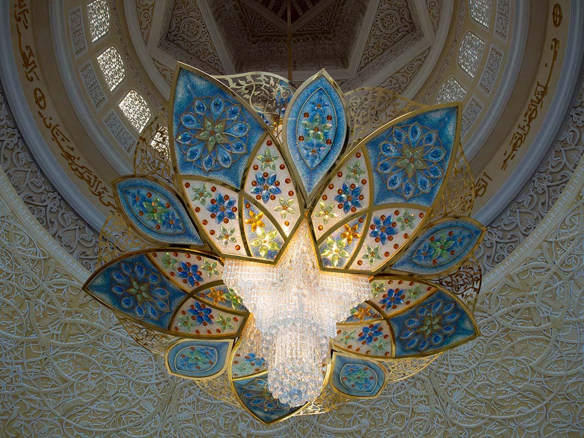 Kronleuchter in der Scheich-Zayid-Moschee