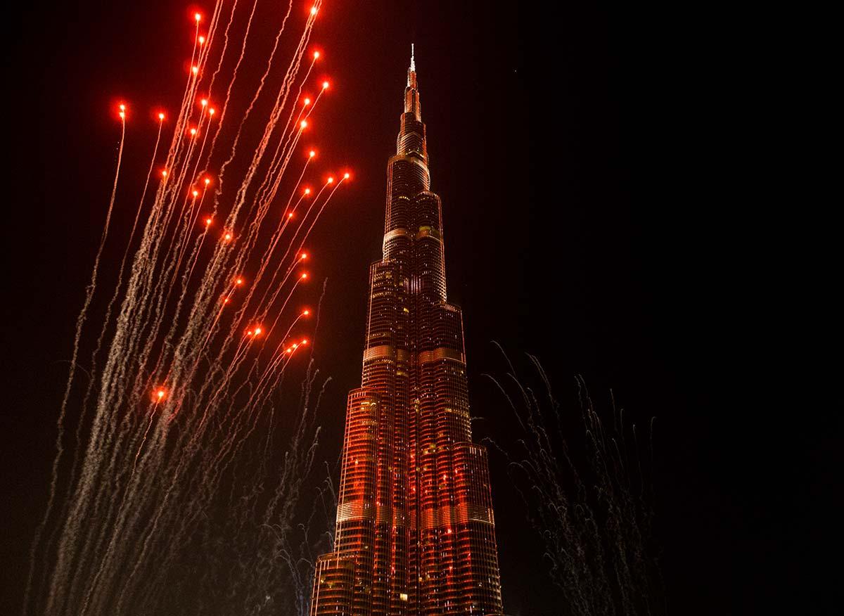 Silvester in Dubai 2016/17 am Burj Khalifa