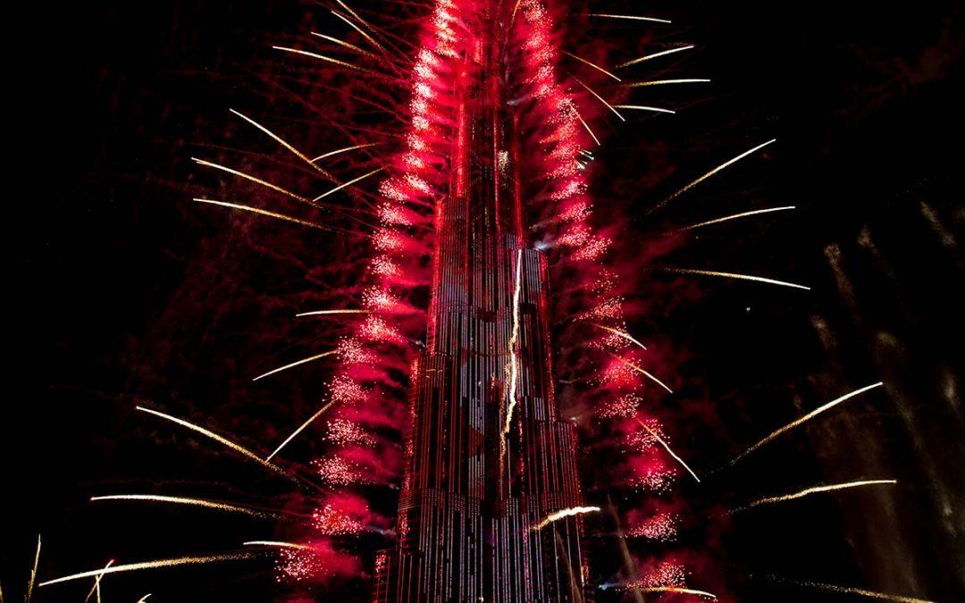 Silvester in Dubai – Feuerwerk am Burj Khalifa