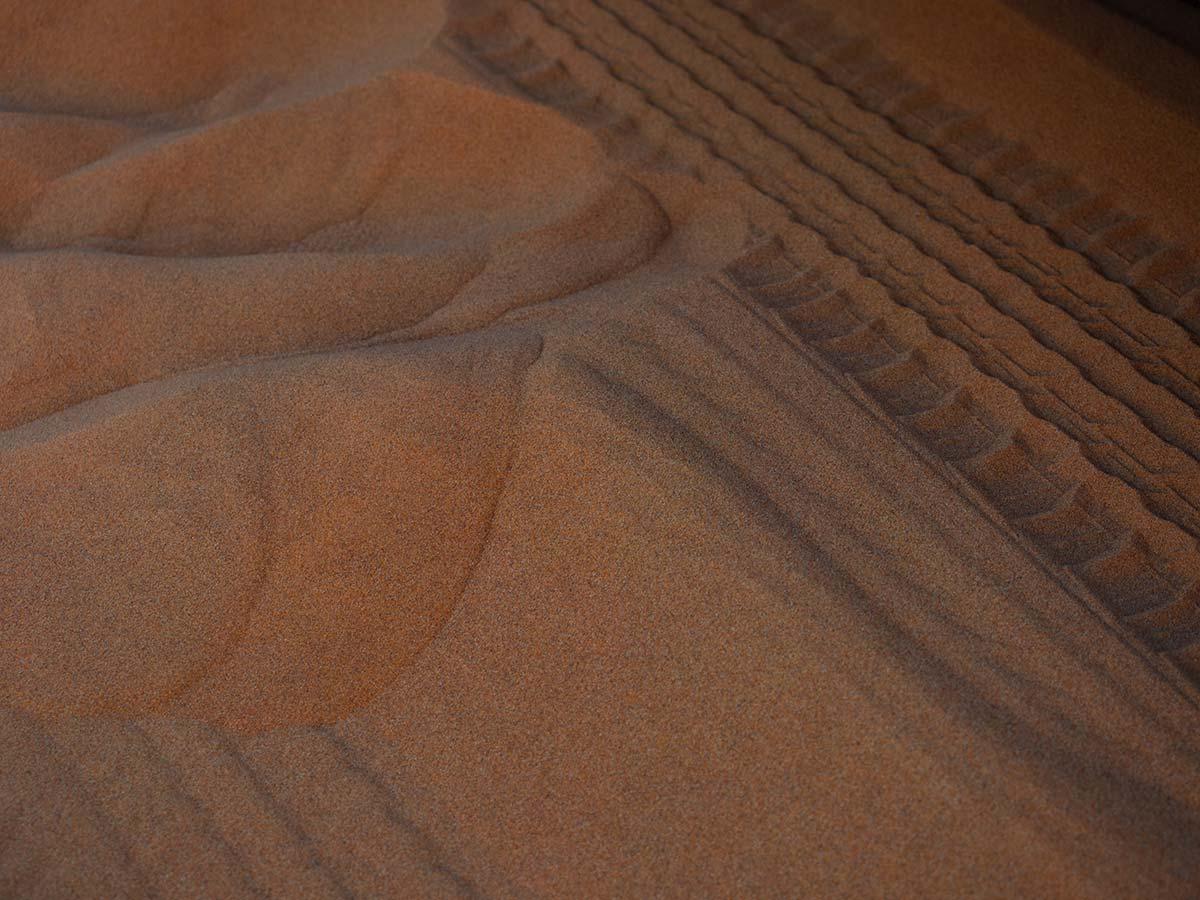 Spuren im Wüstensand